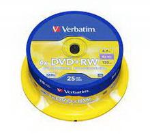 DVD-RW 4.7Gb 4x Verbatim 25 • диск