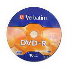 DVD R 4.7Gb 16x Verbatim 10 • диск