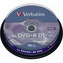 DVD R 8.5Gb 8x Verbatim 10 • диск