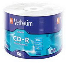CD-R 700Mb 52x Verbatim 50 • диск